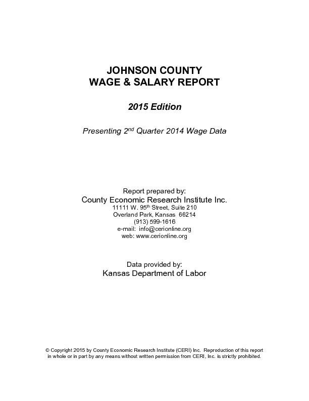 2015 Johnson County Wage & Salary Report