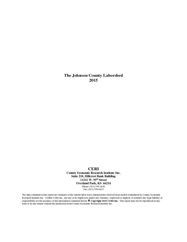 Johnson County Laborshed Report 2015